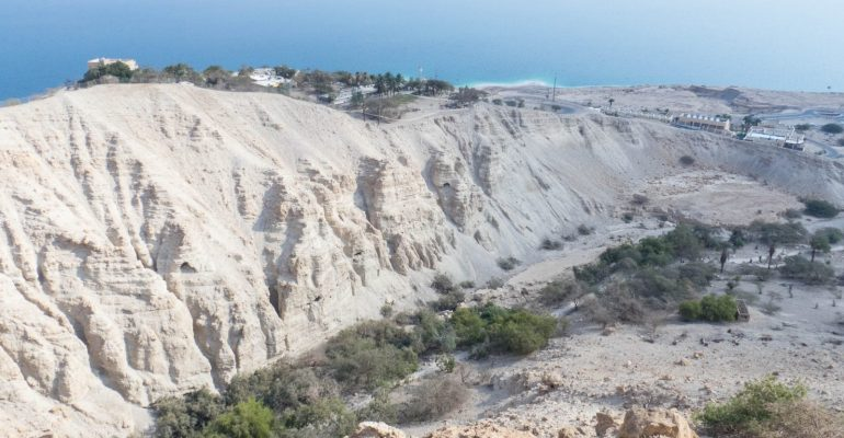 Hiking in the Ein Gedi Nature Reserve, Israel