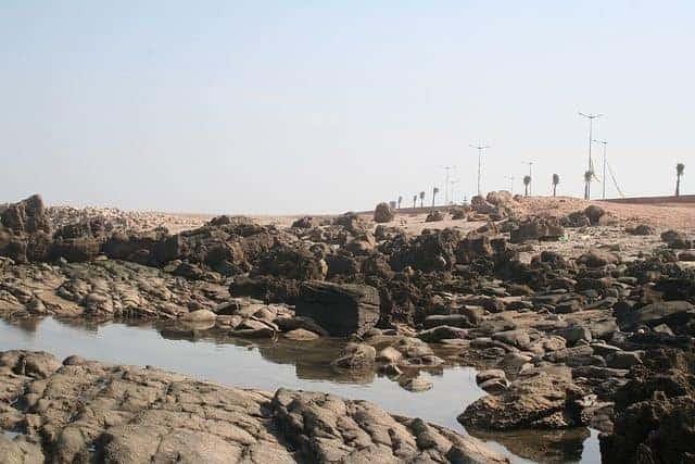 Beach by L'Ocean Bleu Camping near Casablanca, Morocco (2011-10)