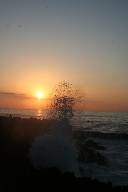 Sunset at Temara Beach near Casablanca, Morocco (2011-10)