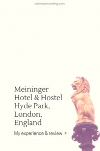 "The Meininger was the second hostel I ever stayed at. The location is perfect to explore London and the facilities as clean as they get. My Korean roommate summarized a stay at the Meininger Hotel Hyde Park best: ""I heard they were German. So I thought they were very clean and organized."""