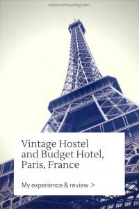 The Vintage Hostel in Paris' romantic Montmartre quarter was a pleasant however not overwhelming experience
