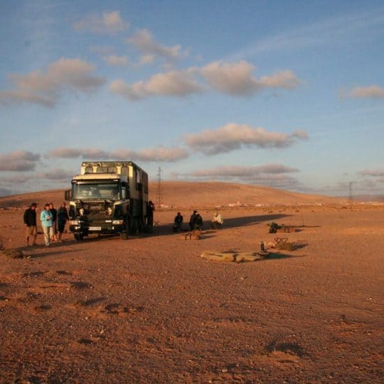The African Trails truck in the desert, Morocco (2011-10)