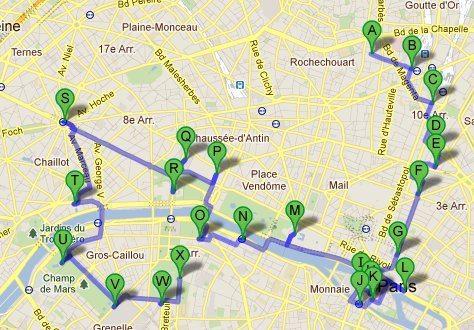 Paris map, FR (2011-10)
