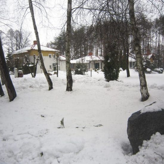 Snow in Osieck, Poland (2013-04-04)