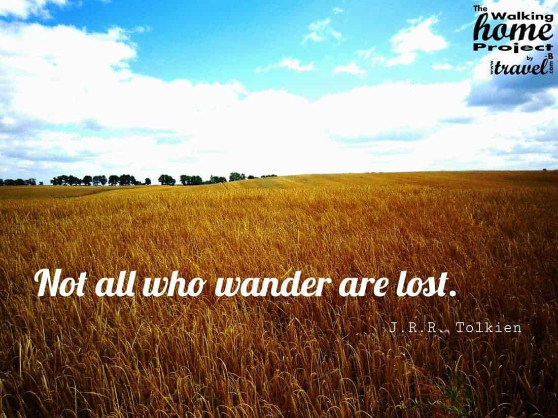 Quotes: JRR Tolkien - Not all who wander are lost