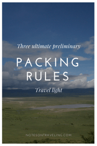 Three packing rules of a long-term traveler and they are simple: pack light, pack light, pack light. Find out, which basics I pack for a long trip and why they make it into my backpack.