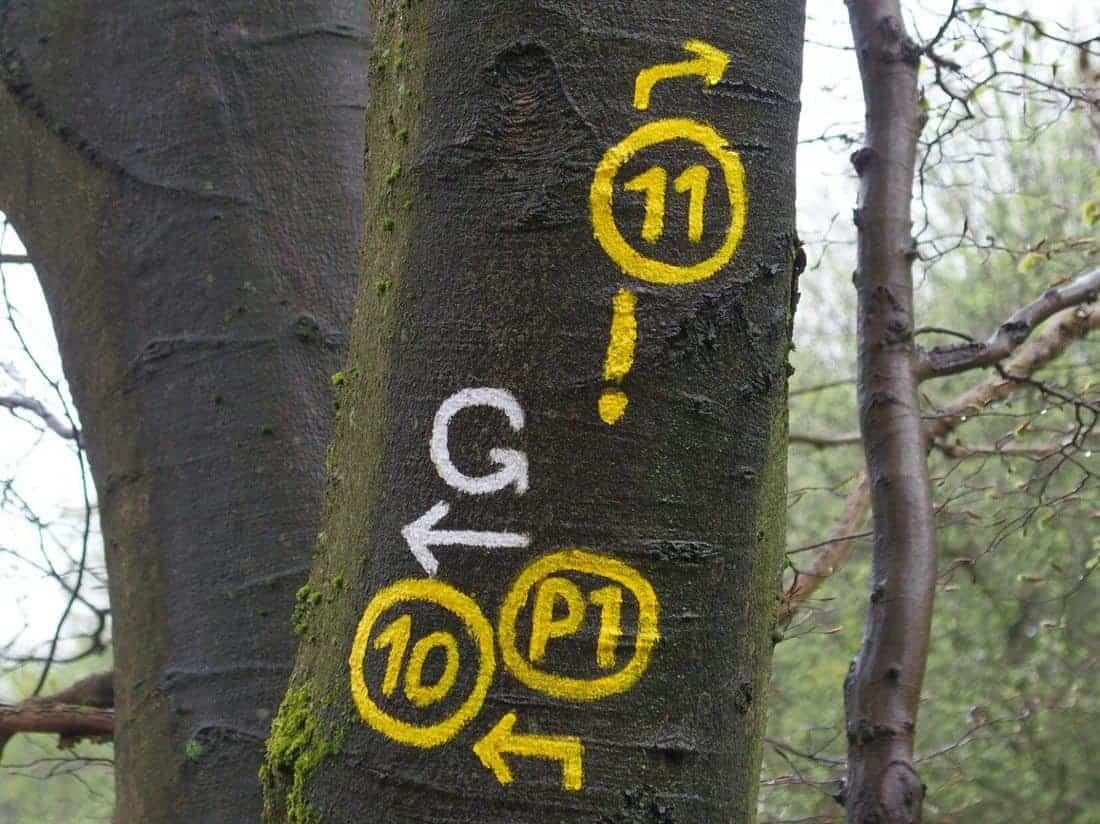 Hiking path markings, Germany (2015-05)