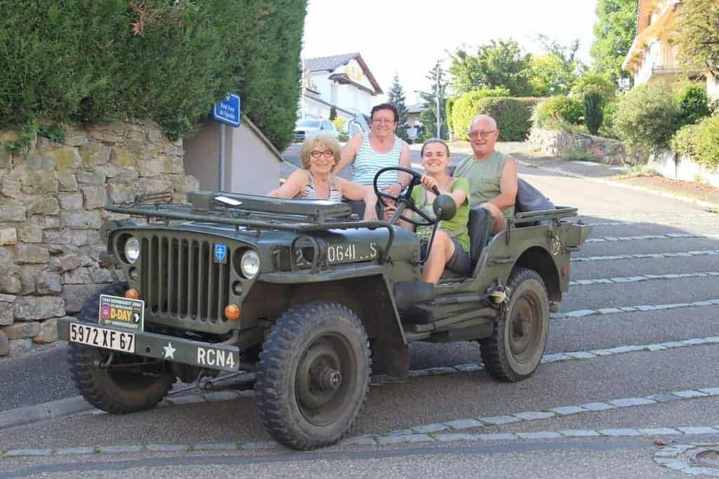 Carola in a jeep car, France (2014-06)