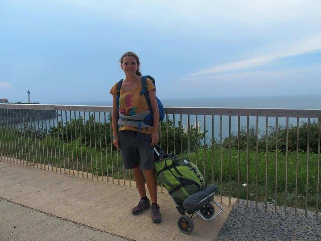 Carola in Biarritz, France (2014-09-06)