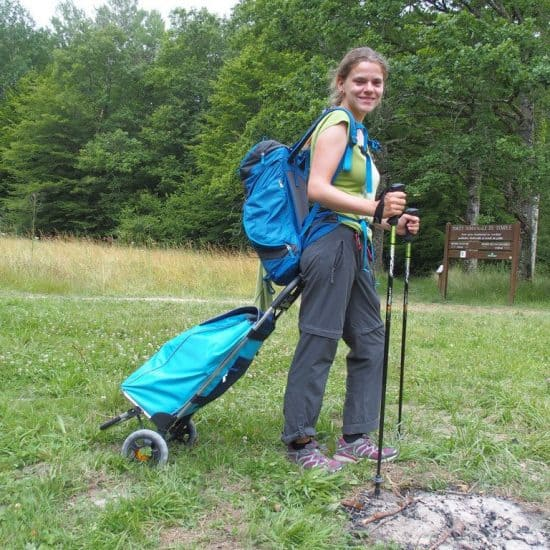 Polly cart for long-distance hiking with luggage (2014-07)