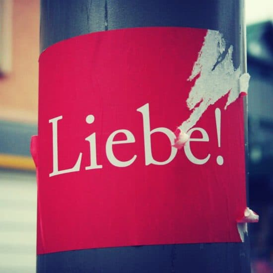 Sticker Liebe - Love in Berlin, Germany (2013-11-17)