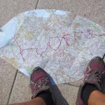 Walking Home map at my feet (2015-09)