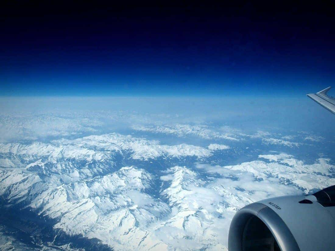 The Alps seen from an airplane window (2015-03)