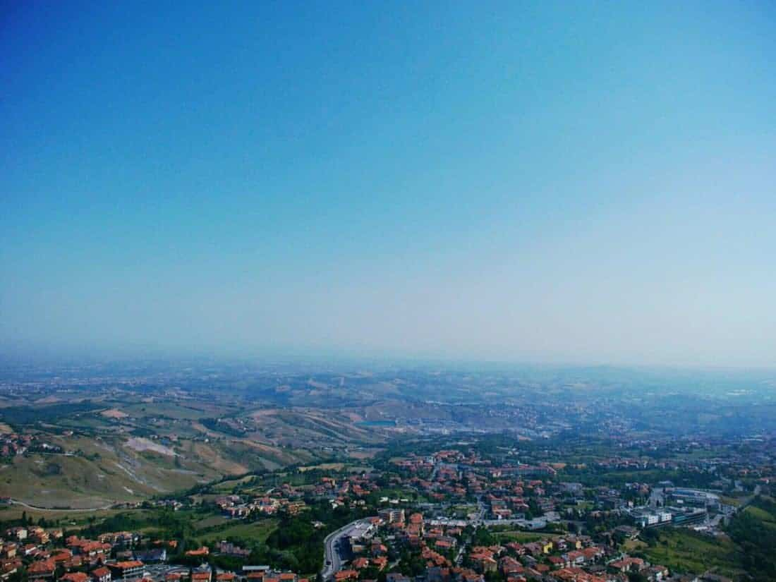 View from San Marino onto Italy (2015-07-21)