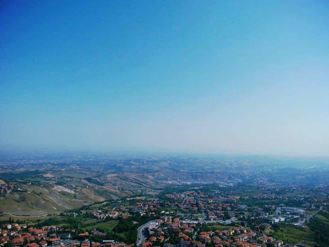 View from San Marino onto Italy (2015-07-21)