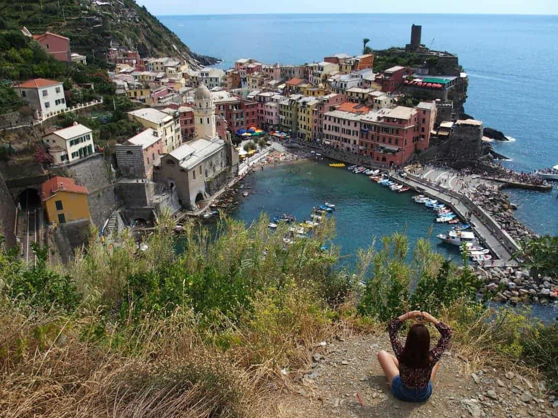 View on Cinque Terre village, IT (2015-08)