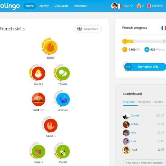 Duolingo screenshott