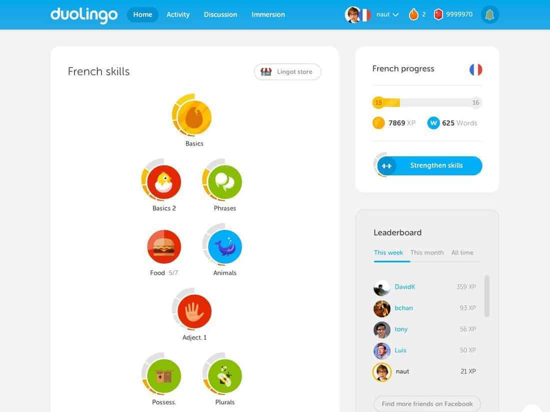 Duolingo screenshott