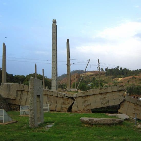 Broken stele in Axum, Ethiopia (2012-06)