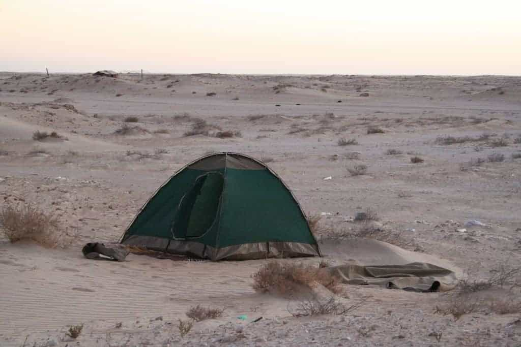 African Trails tent in bush camp, Mauritania (2011-11)