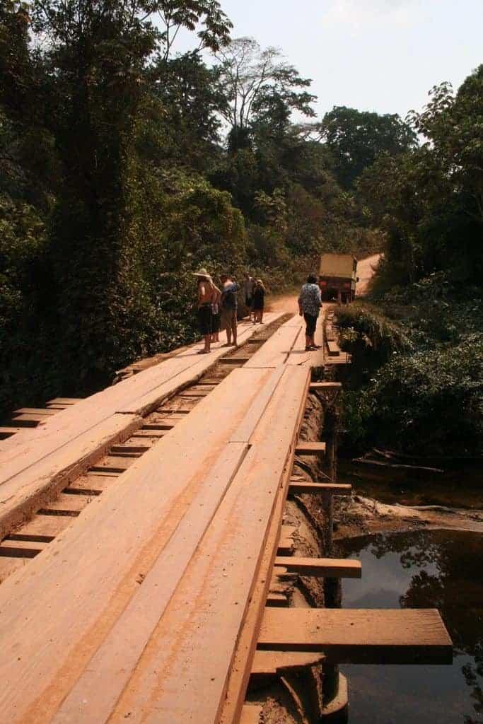 Shady wooden bridge, Cameroon (2012-01)
