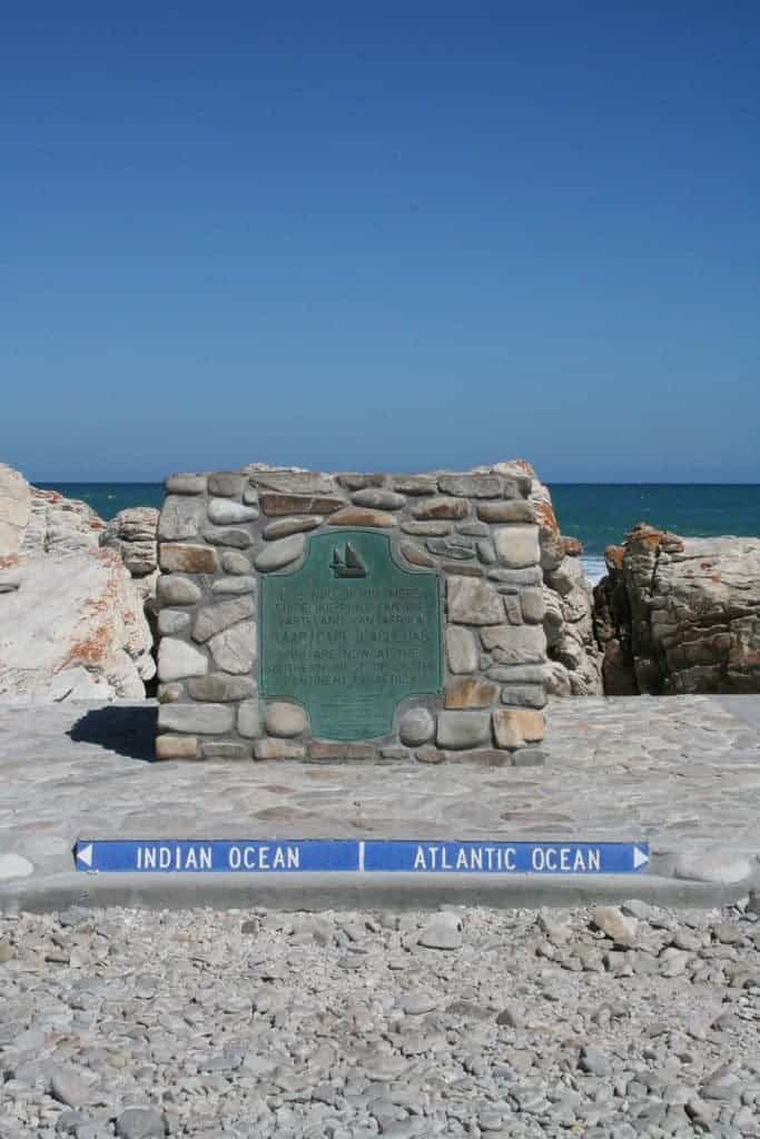 Between the Indian and der Atlantic Ocean, Cape Agulhas, South Africa (2012-03)