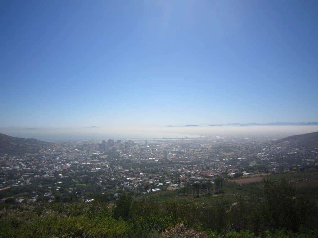 View of Cape Town from Table Mountain, South Africa (2012-03)