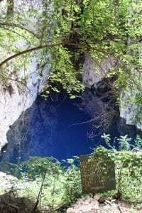 Looking at the water in Chinhoyi Caves National Park, Zimbabwe (2012-04)