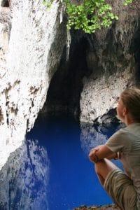 Carola in Chinhoyi Caves National Park, Zimbabwe (2012-04)