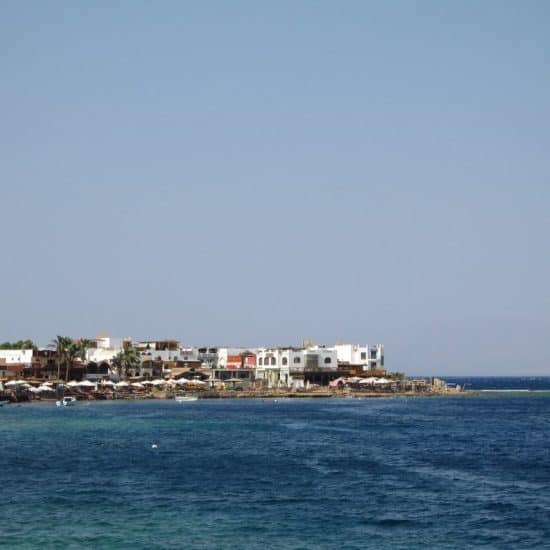The coast across the sea in Dahab, Egypt (2012-07)