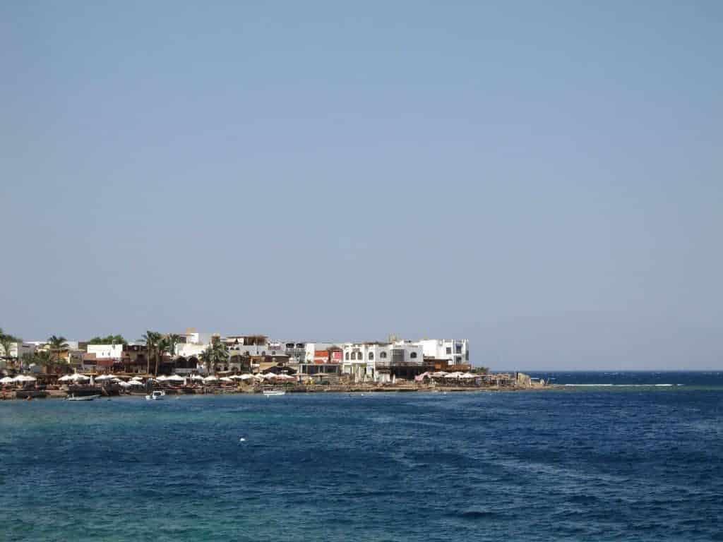 The coast across the sea in Dahab, Egypt (2012-07)