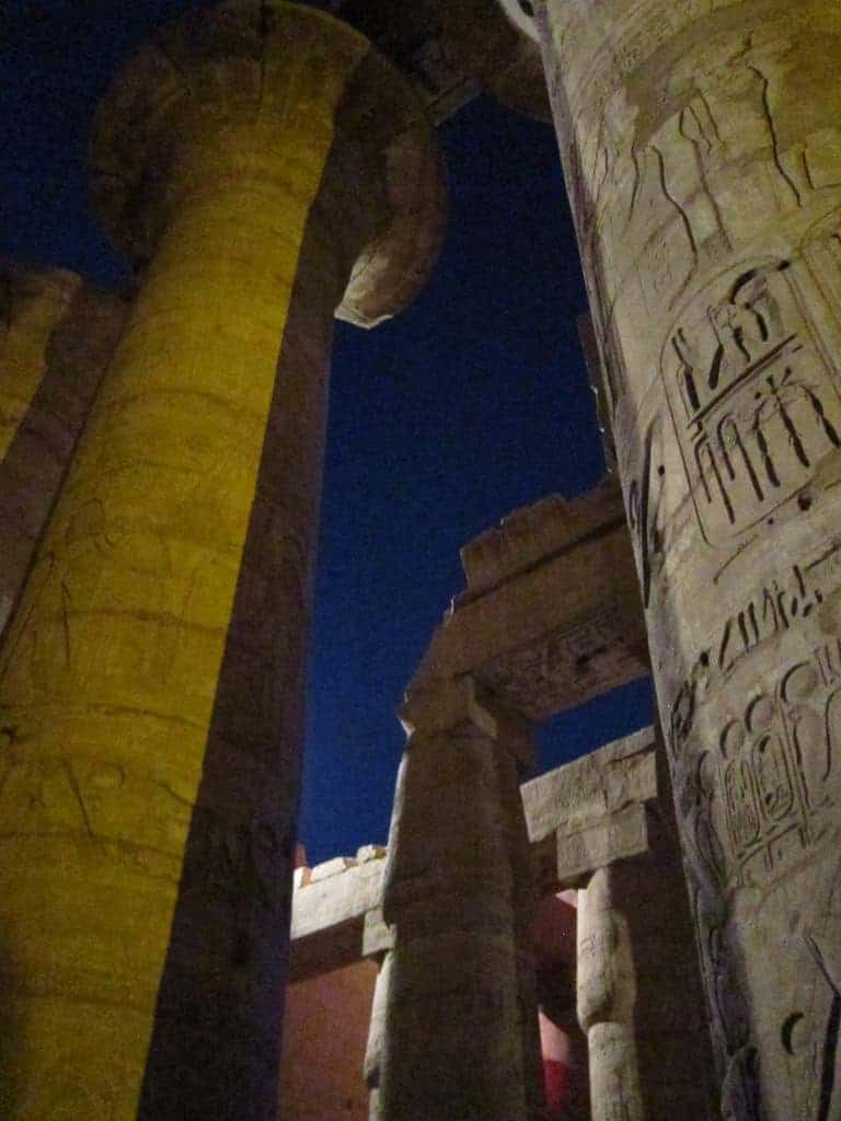 Karnak temple at night, Luxor, Egypt (2012-07)