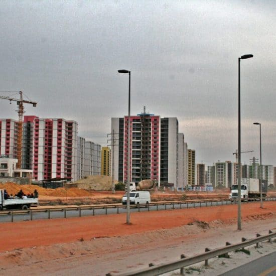 Highrise city on the outskirts of Luanda, Angola (2012-02)