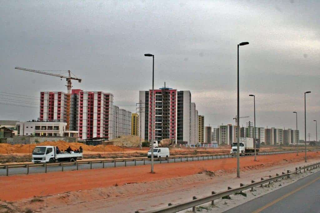 Highrise city on the outskirts of Luanda, Angola (2012-02)