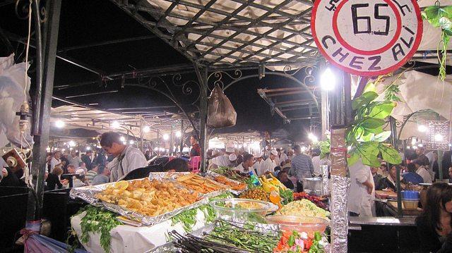 Night market on Jemma el Fna square, Marrakesh, Morocco (2011-10)
