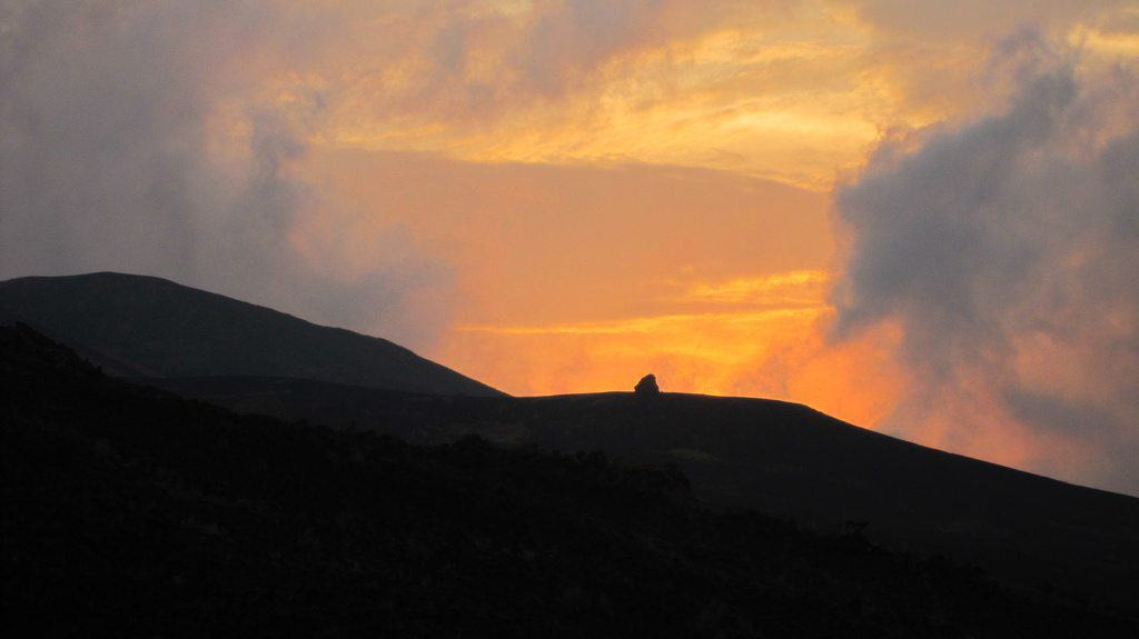 Sunset after climbing Mount Cameroon (day 3) (2012-01)