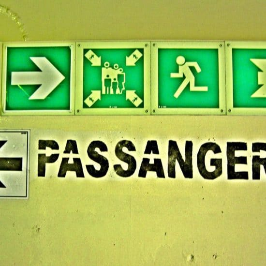 Passangers sign on the boat from Egypt to Turkey (2012-08)
