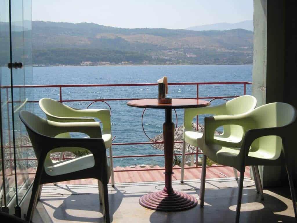 Terrasse by the sea, Samos, Greece (2012-08)