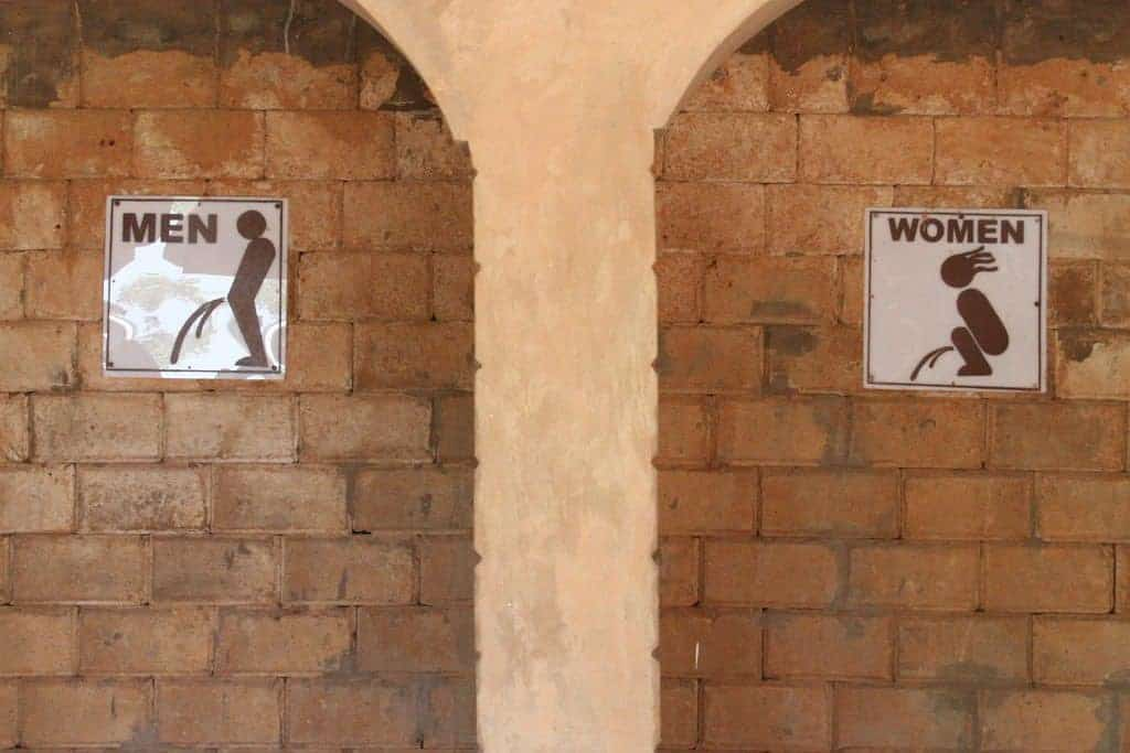 Toilet signs in Mole National Park, Ghana (2011-12)