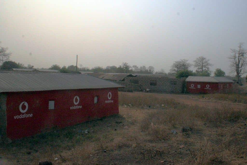 Vodafone advertising huts, Burkina Faso (2011-12)