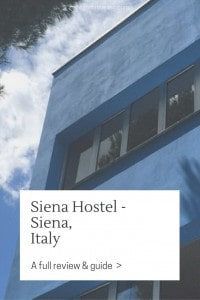 My opinion on this one is about as split as it gets: the unbeatable price and the great staff made me feel right home at the Siena Hostel but bedbugs...