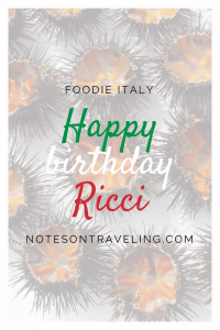 When in Puglia, Italy, you just have to try Ricci, sea urchins! Here's my story of trying them right at the beach on my birthday.