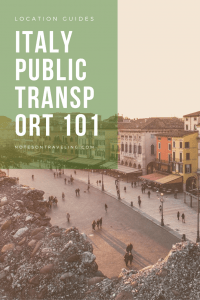 Everything you need to know to easily and cheaply navigate Italy on public transport. Details on trains and buses plus car sharing and ferries (with links).