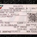 Trenitalia train ticket, Italy (2016-03-03)