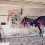 Dragon in Game of Thrones exhibition in Klis Fortress near Split, Croatia (2016-09-15)