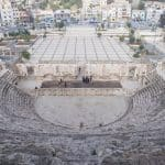 Looking down from the Roman amphitheater in Amman, Jordan (2016-12-19)