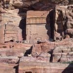 Tombs as goat shelters in Petra, Jordan (2016-12-28)