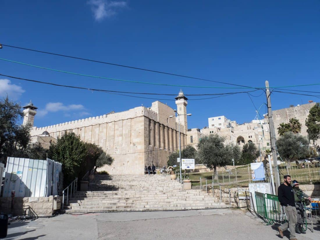 Tomb of the Patriarchs approached from the Jewish side, Hebron, Palestine (2017-01-08)
