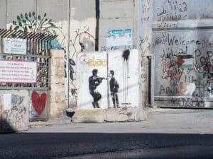 Banksy signature but probably a copy, Bethlehem, Palestine (2017-01-11)