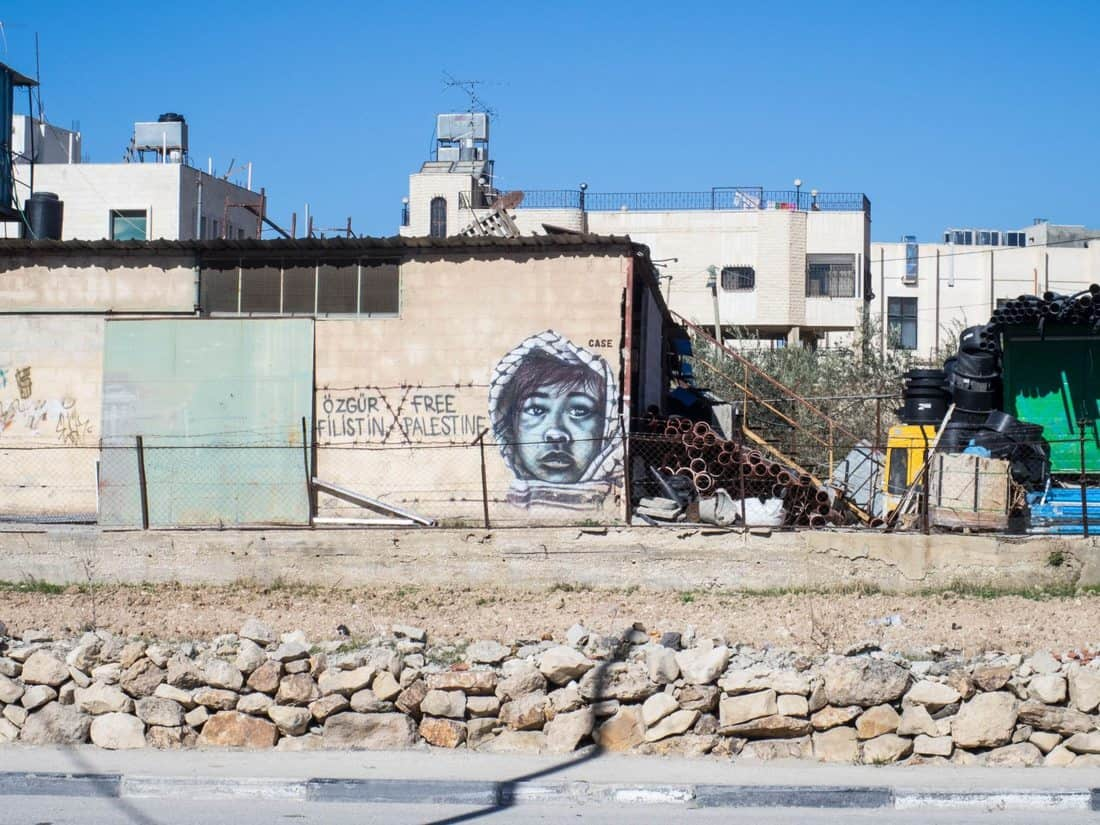 Striking graffiti, Bethlehem, Palestine (2017-01-11)
